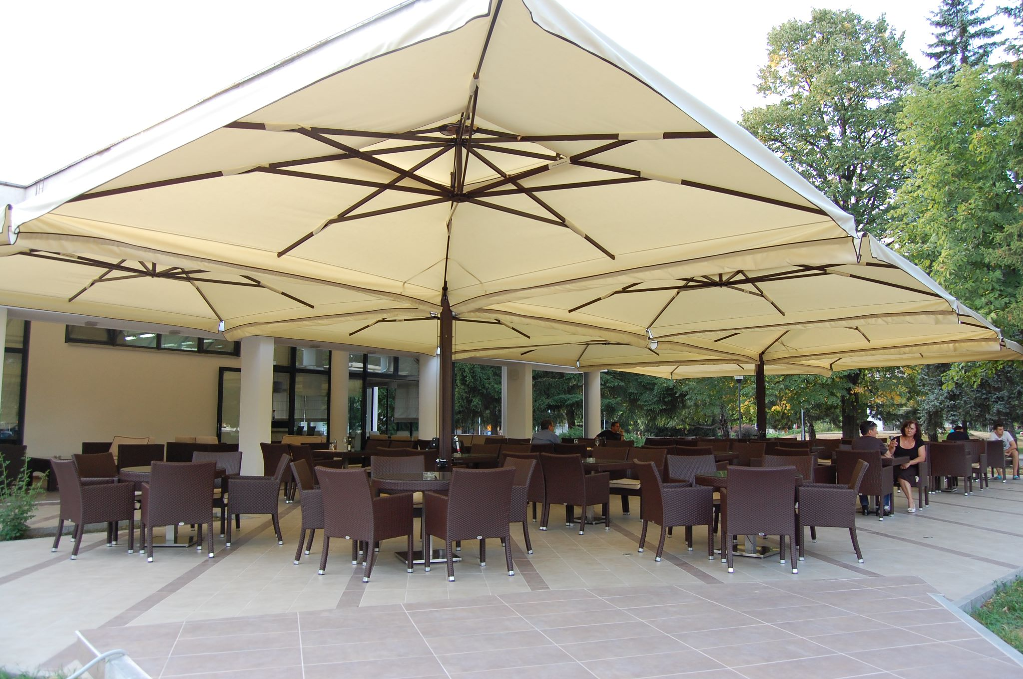 stunning patio square ft coast coral offset of umbrellas umbrella fset